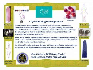 crystal healing training course