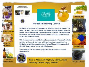 herbalism training course photo